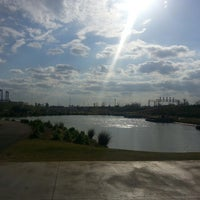 Photo taken at Railroad Park by FLYCHK B. on 4/9/2013