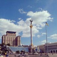 Снимок сделан в Майдан Незалежности пользователем Oleksii B. 6/24/2013