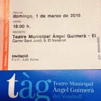 Photo taken at Teatre Àngel Guimerà del Vendrell by Just M. on 3/1/2015