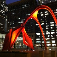 Photo taken at Alexander Calder's Flamingo Sculpture by Lucy M. on 11/12/2012