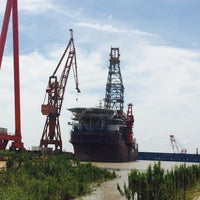 Photo taken at Shanghai Shipyard by Miguel P. on 9/27/2014