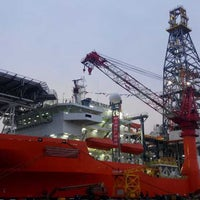 Photo taken at Shanghai Shipyard by Miguel P. on 11/8/2014
