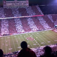 Photo taken at Gaylord Family Oklahoma Memorial Stadium by Kevin G. on 10/28/2012