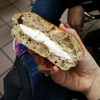 Photo taken at Davidovich Bagel Shop NYC by Kate Y. on 2/1/2015