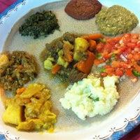Photo taken at Meskerem Ethiopian Restaurant by Iva Z. on 10/7/2012
