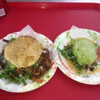 Photo taken at Tacos El Gordo by Sara H. on 7/8/2013