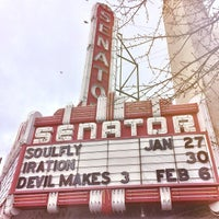Photo taken at Senator  Theater by Micah B. on 1/30/2014