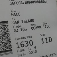 Photo taken at Gate 7 by DHAM ™ 🇲🇻 on 4/6/2014