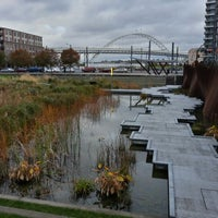 Photo taken at Tanner Springs Park by Weston R. on 10/24/2012