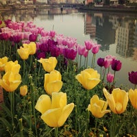 Photo taken at 博多 清流公園 by Keng Y. on 4/13/2013