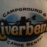 Photo taken at Riverbend Campground by Rebecca H. on 3/4/2013