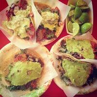 Photo taken at Tacos El Gordo De Tijuana by Katie B. on 3/1/2013