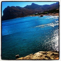 Photo taken at Kolymbia Beach by Sara A. on 9/15/2013