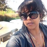 Photo taken at Two Too Large Tables - Hudson River Park by Bunny C. on 9/28/2014