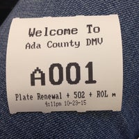 ... Photo taken at Ada County Department of Motor Vehicles by Dominique on 10/23/ ...