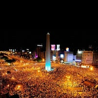 Photo taken at Obelisco - Plaza de la República by Gonzalo A. on 11/9/2012