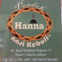 """รูปภาพถ่ายที่ Pondok Nasi Kebuli """"Ibu Hanna"""" โดย Ayi M. เมื่อ 11/2/2013"""
