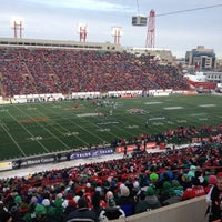 Photo taken at McMahon Stadium by Dave L. on 11/11/2012