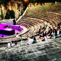 Photo taken at Teatre Grec by Helena C. on 6/11/2013