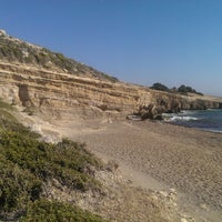 Photo taken at Fourni Beach by Alexandru L. on 7/2/2014