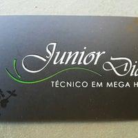 Photo taken at Hair Studio Junior Dias by Gustavo P. on 8/3/2013