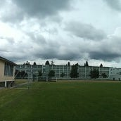 Photo taken at John Oliver Secondary by Harry L. on 6/26/2013