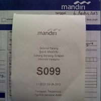 Photo taken at Bank Mandiri by Arief J. on 8/6/2013