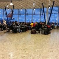 Photo taken at Geneva Cointrin International Airport (GVA) by Diane M. on 2/10/2013