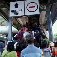 Photo taken at Stasiun Tanah Abang by Usep F. on 9/24/2012