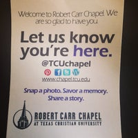Photo taken at Robert Carr Chapel by J.R. A. on 10/21/2014