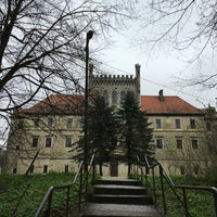 Photo taken at Zamek na Mirowie w Książu Wielkim by Caramelle on 4/10/2016