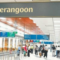 Photo taken at Serangoon MRT Interchange (NE12/CC13) by Handoyo T. on 5/31/2013