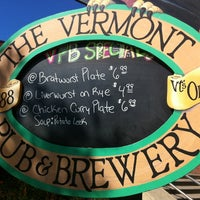 Photo taken at Vermont Pub & Brewery by Sergio H. on 9/27/2012