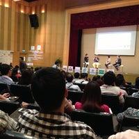 Photo taken at Bangkok University by Aey P. on 4/22/2013