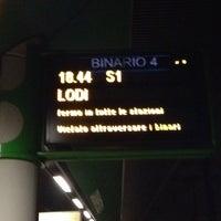Photo taken at Stazione Caronno Pertusella by Gianluca C. on 2/2/2014