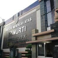 Photo taken at SMA Trimurti Surabaya by widyowanto &. on 12/6/2013