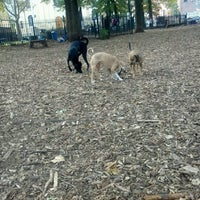 Photo taken at McCarren Dog Park by Aya R. on 10/23/2012