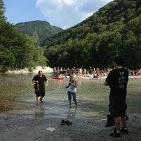 Photo taken at Sotočje Soče in Tolminke by Marianne Z. on 7/26/2013