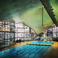 Photo taken at Olympia-Schwimmhalle by Michael L. on 3/3/2013