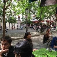 Photo taken at Place du Marché Sainte-Catherine by Henk D. on 6/15/2013