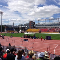 Photo taken at Toronto Track & Field Center by Stephen O. on 7/22/2015