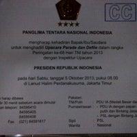 Photo taken at Pangkalan TNI-AU Halim Perdanakusuma by Agung D. on 10/5/2013