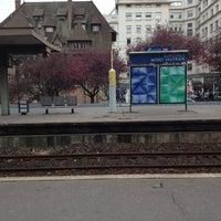Photo taken at Gare SNCF de Suresnes — Mont Valérien by Damien R. on 11/22/2012