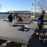 Photo taken at Two Too Large Tables - Hudson River Park by Nelson Y. on 4/6/2013