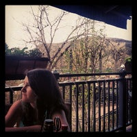 Photo taken at Bridgewater Grill (inside The Golden Hotel) by Monica K. on 5/12/2013