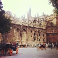 Photo taken at Virgen de los Reyes Square by Column F. on 11/20/2012