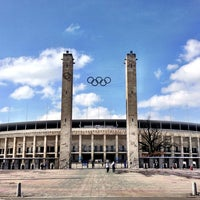 Photo taken at Olympiastadion by Jordi G. on 3/26/2013