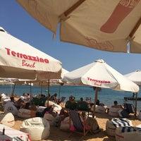 Photo taken at Terrazzina Beach by Hussein B. on 9/4/2017