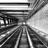 Photo taken at MTA Subway - High St/Brooklyn Bridge (A/C) by Gokce G. on 11/8/2013