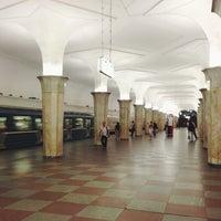 Photo taken at metro Kropotkinskaya by Ksenia F. on 7/11/2013